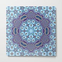 Modern Traditional Lacey Mandala Metal Print