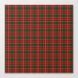 Christmas Plaid Pattern in Red and Green Canvas Print