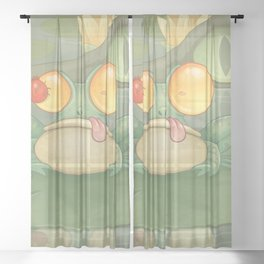 Swamp Snack Sheer Curtain