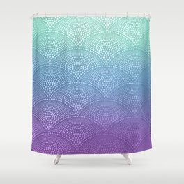 Purple & Turquoise Scallop Shower Curtain
