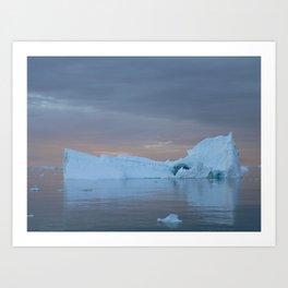 Antarctic Iceberg Art Print