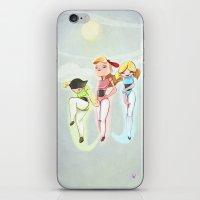 powerpuff girls iPhone & iPod Skins featuring Powerpuff Girls by animatorlu