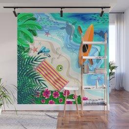 Tropical Beach Aerial Drone View Wall Mural