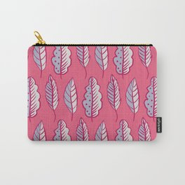 Pink Leaves Abstract Decorative Pattern Carry-All Pouch
