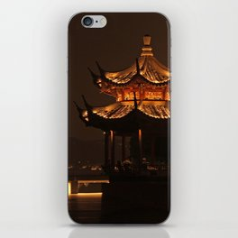 Chinese Pagoda on Lake iPhone Skin