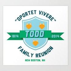 Todd Family Reunion Art Print