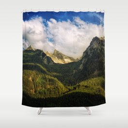 All That Is Above - Mountainscape Shower Curtain