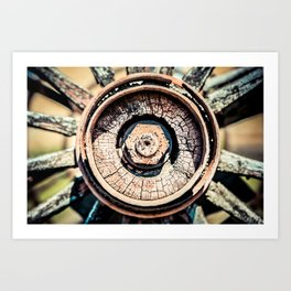 The Rusted Wheel Art Print