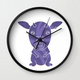 Tiki Cow Wall Clock