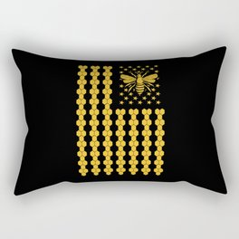 Save The Bee's American Flag Be Hive Bee Queen Rectangular Pillow