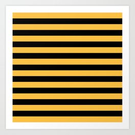 Yellow and Black Bumblebee Stripes Art Print
