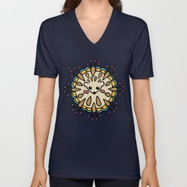 Hedgehog Paisley_Colors and White Unisex V-Neck