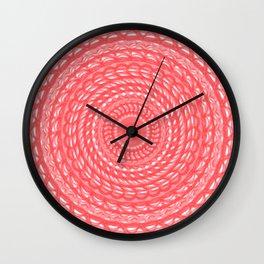 Pink Denim Mandala Wall Clock