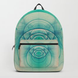 Egyptian Turquoise Scarab on Beige Sandstone Glyphs Backpack