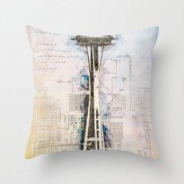 Space Needle, Seattle USA Throw Pillow