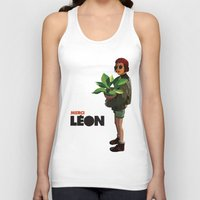 leon Tank Tops featuring Mathilda, Leon the Professional by AnanasArtShop