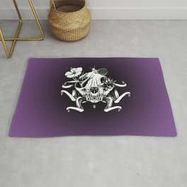 The Skull the Flowers and the Snail Rug