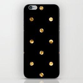Black & Gold iPhone Skin
