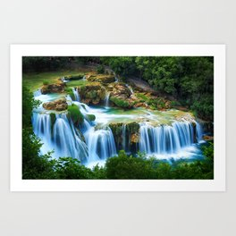 Waterfall at Krka National Park, Croatia Art Print