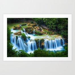 Waterfall at Krka National Park, Croatia Art Print