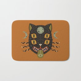 Spooky Cat Bath Mat