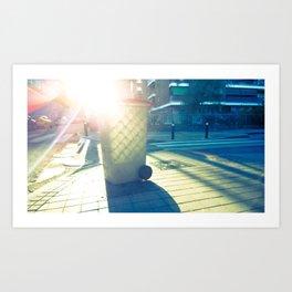 Cubo de basura pintado por el sol Art Print