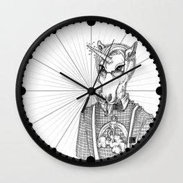 Ironic Hipster Unicorn Wall Clock