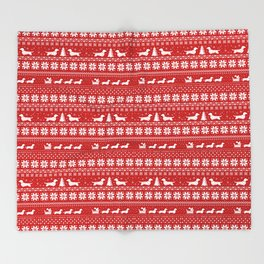 Love Joy Peace Wiener Dogs Throw Blanket