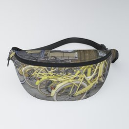Yellow Bicycles Fanny Pack