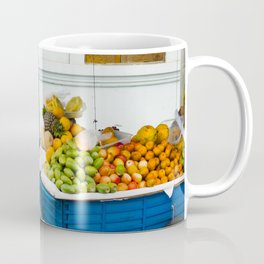 Fruit Cart in Peru-South America Street Photography Coffee Mug