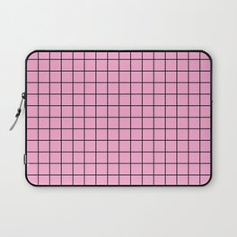 Grid Pattern - pink and black - more colors Laptop Sleeve