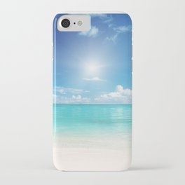 Beach Sun Clouds Ocean Blues Sunshine Waves Seaside iPhone Case