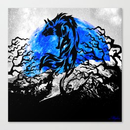 WOLF OF THE NIGHT Canvas Print