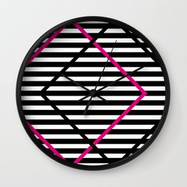 lines and stripes Wall Clock