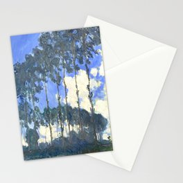 Monet : Poplars on the River Epte Stationery Cards