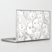 asian Laptop & iPad Skins featuring Asian Girls by Maria Umiewska