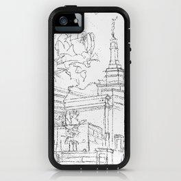Melbourne AU LDS Temple Sketch iPhone Case