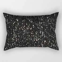 Black and white shiny glitter sparkles Rectangular Pillow