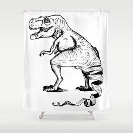 Unravelled T-Rex Dinosaur Shower Curtain