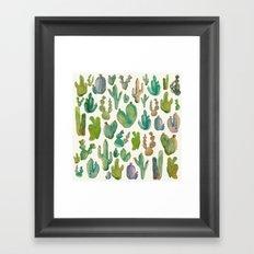 cactus collab Framed Art Print