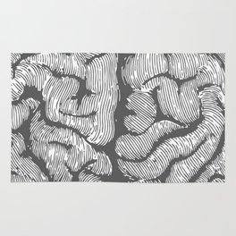 Brain vintage illustration Rug