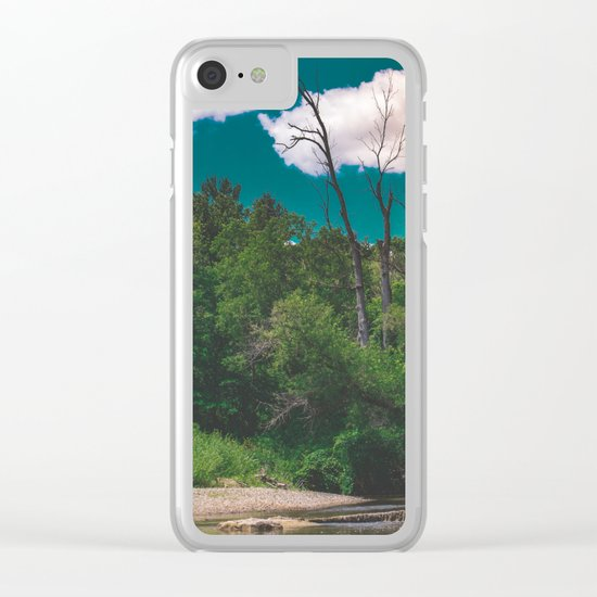 River Days Clear iPhone Case