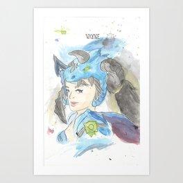 League of Legends - Vayne Watercolour Art Print