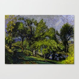 Chestnut Trees above a River Canvas Print