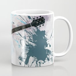Electric Blue Guitar Coffee Mug