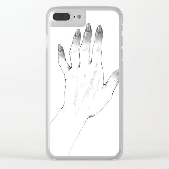 Gray Nails Clear iPhone Case