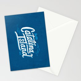 Catalina Island Blue Stationery Cards