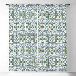 Italian Tile Pattern – Sicilian ceramic from Caltagirone Blackout Curtain