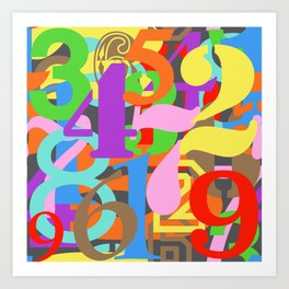 Paint Numbers by Numbers Typography Art Print