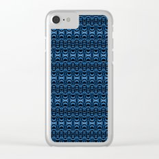 Dividers 07 in Blue over Black Clear iPhone Case